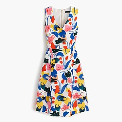 Petite A-line dress in morning floral