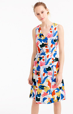 A-line dress in morning floral