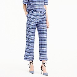 Collection cropped pant in yarn-dyed silk