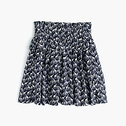 Girls' tiered pull-on skirt in giraffe print