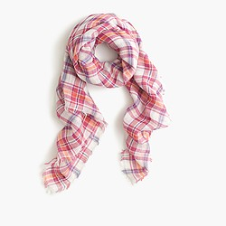 Summer plaid square scarf