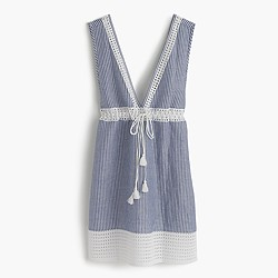 Striped eyelet tunic