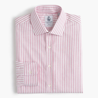 Cordings™ for J.Crew shirt in pink stripe