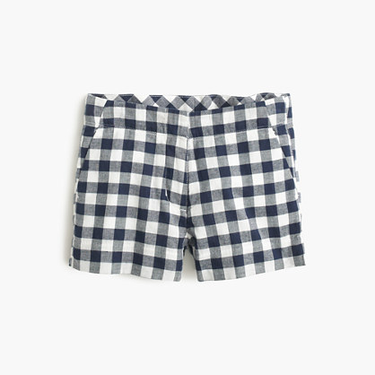 Girls' Frankie short in gingham