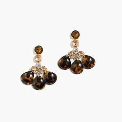 Tortoise and crystal earrings