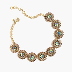 Crystal motif necklace