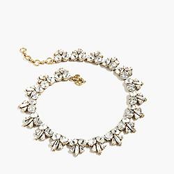 Fleur-de-lis crystal necklace