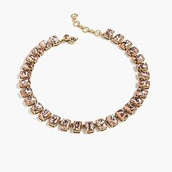 Crackled crystal necklace
