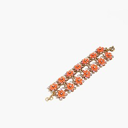 Neon floral bracelet