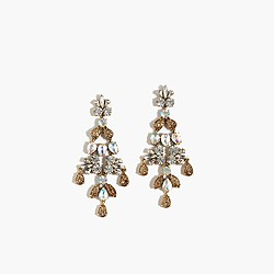 Mixed crystal chandelier earrings