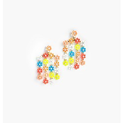 Neon garden earrings
