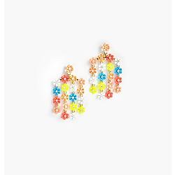 Neon garden earrings