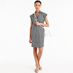Tall classic short-sleeve shirtdress in gingham