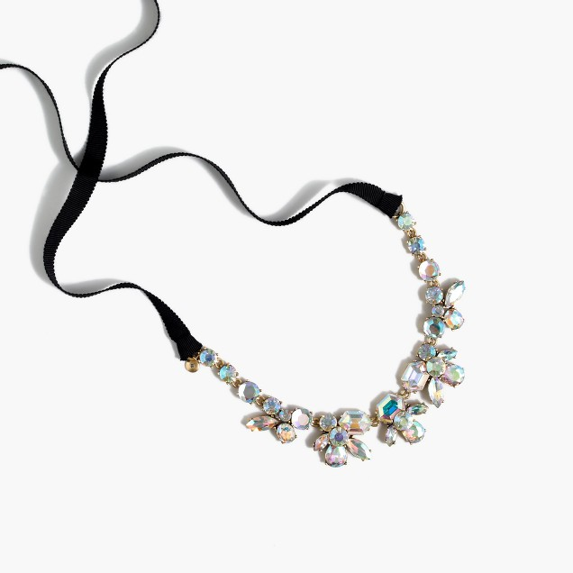 Crystal ribbon necklace