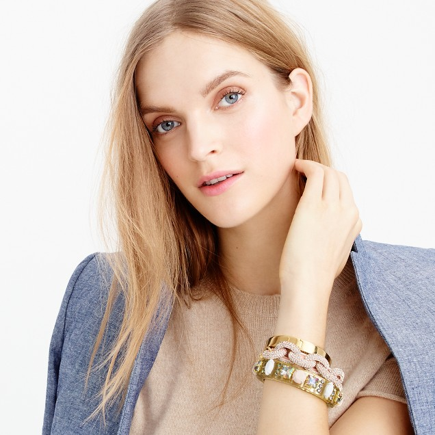 Gold-plated hinge bracelet