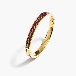 Herringbone enamel hinge bracelet