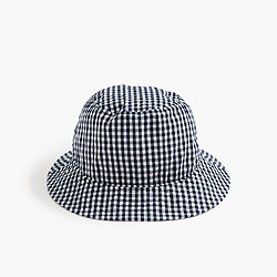 Bucket hat in gingham