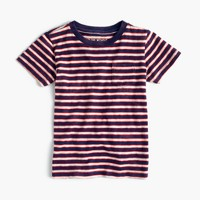 Boys' pocket T-shirt in indigo stripe