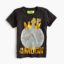 "Boys' glow-in-the-dark ""man on the moon"" T-shirt"