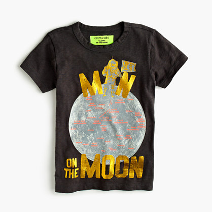 "Boys' glow-in-the-dark ""man on the moon"" T-shirt"