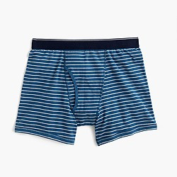 Blue-striped boxer briefs