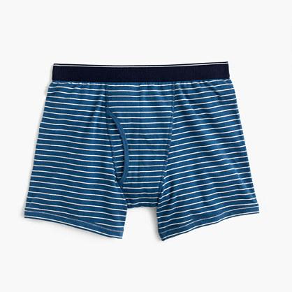 Blue-striped boxer briefs