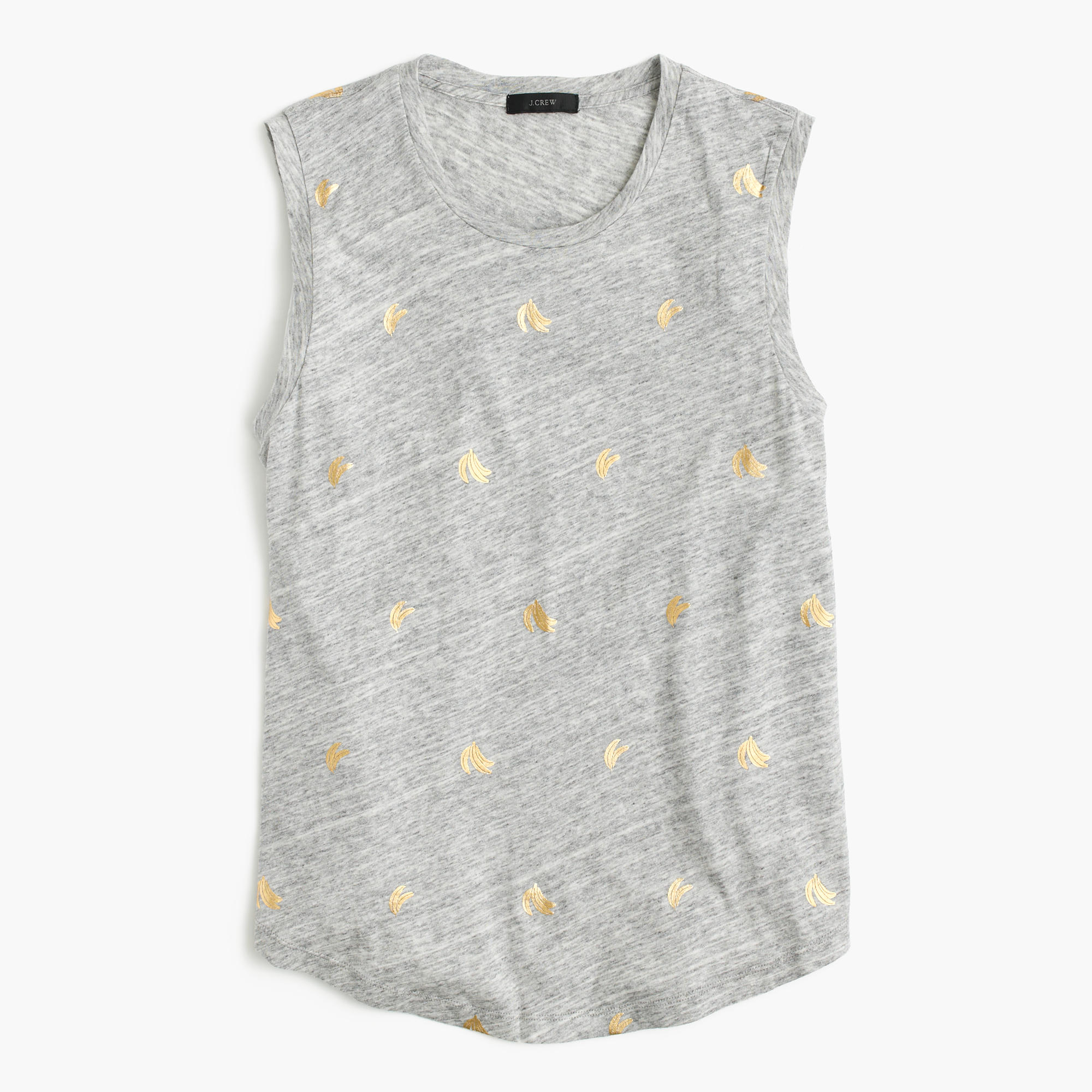 Metallic banana print t shirt j crew for Print one t shirt