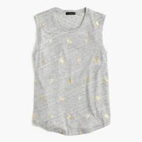 Metallic banana-print T-shirt