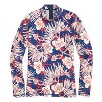 Rash guard in retro floral