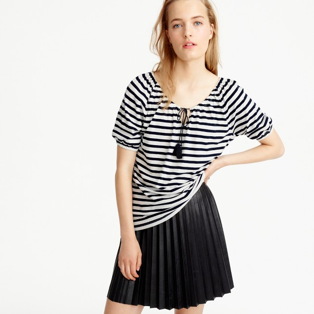 Striped peasant top
