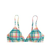 French bikini top in vintage plaid