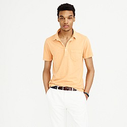 Tall garment-dyed polo shirt