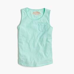 Girls' pocket tank top