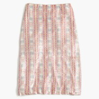 Collection patterned sequin skirt