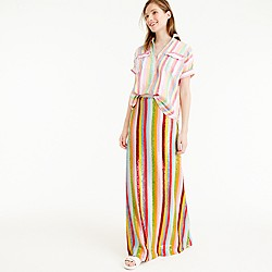 Collection candy stripe sequin skirt