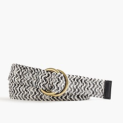 Marled woven belt