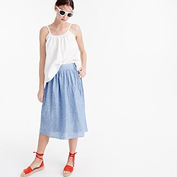 Easy linen midi skirt with ties