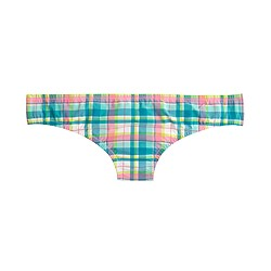 Bikini bottom in vintage plaid