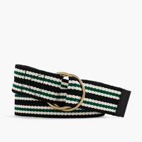 Striped wide belt