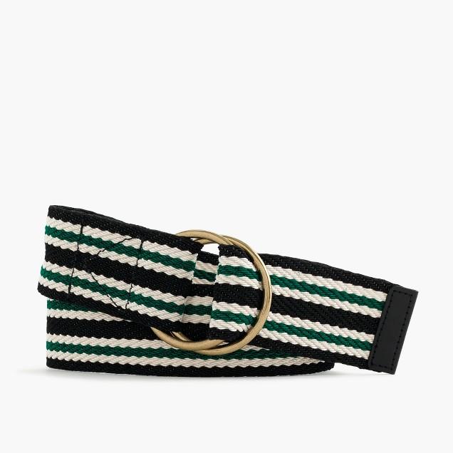 Striped wide belt