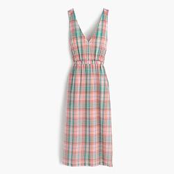 Cross-back dress in vintage plaid