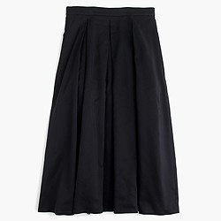 Pleated high-waisted skirt
