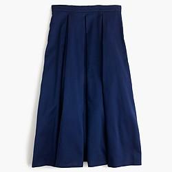 Pleated high-waisted skirt