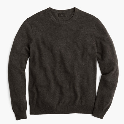 Tall Italian cashmere crewneck sweater