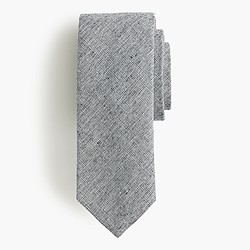 Cotton crosshatched tie