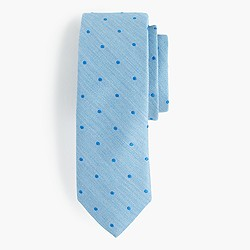 English silk tie in dot