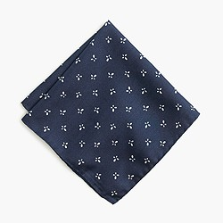Italian silk pocket square in floral