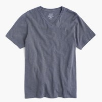 Garment-dyed V-neck T-shirt