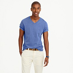 Tall garment-dyed V-neck T-shirt