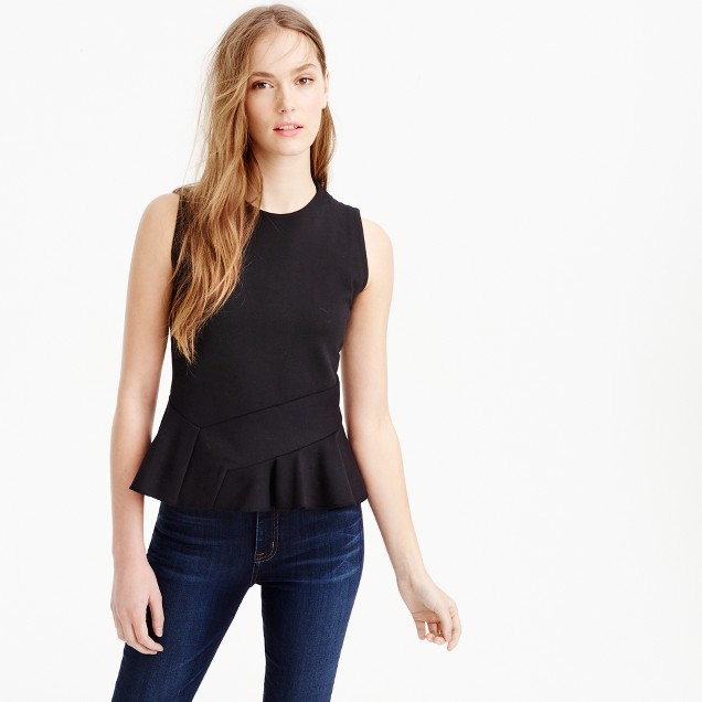 Structured flutter-hem top